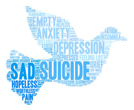 Suicide word cloud on a white background. Фото со стока - 71671228