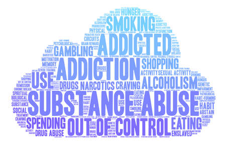 Substance Abuse word cloud on a white background. Stock Vector - 71671238
