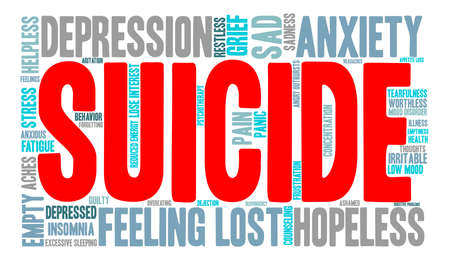 Suicide word cloud on a white background. Фото со стока - 71671239
