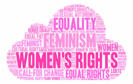 Womens Rights word cloud on a white background. Ilustração