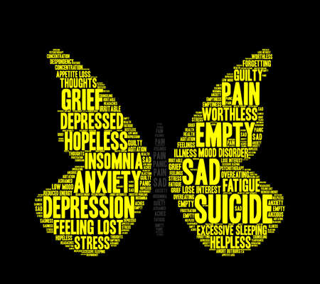 Suicide word cloud on a white background. Фото со стока - 71713312