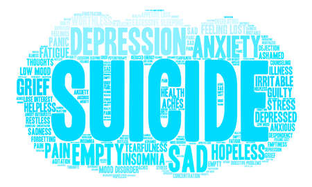 Suicide word cloud on a white background. Фото со стока - 71670495