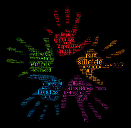 worthless: Suicide word cloud on a white background.