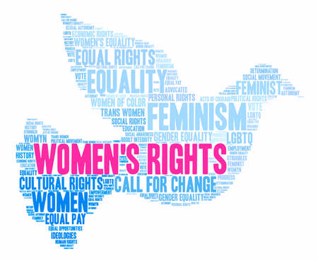 trans gender: Womens Rights word cloud on a white background. Illustration