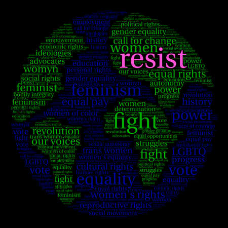social history: Resist word cloud on a black background.