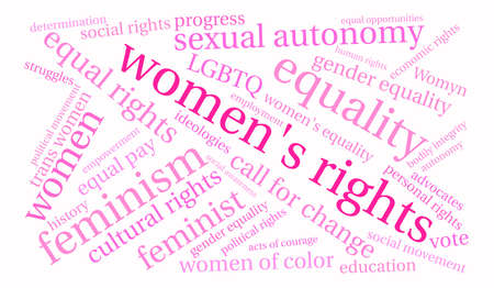 Womens Rights word cloud on a white background. Stock Vector - 74010266