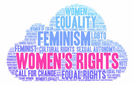 Womens Rights word cloud on a white background. Stock Vector - 74008559