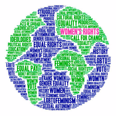 Womens Rights word cloud on a white background. Stock Vector - 73953354