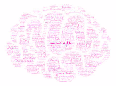 Womens Rights word cloud on a white background. Illustration