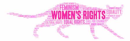 Word cloud Womens Rights su uno sfondo bianco. Archivio Fotografico - 73953406
