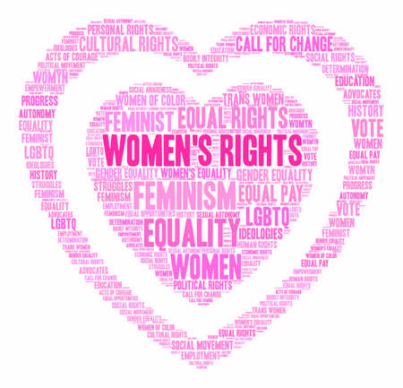Womens Rights word cloud on a white background. Stock Vector - 73883999