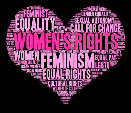 call history: Womens Rights word cloud on a black background.