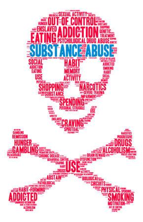 Substance Abuse mot nuage sur un fond blanc. Banque d'images - 73725186