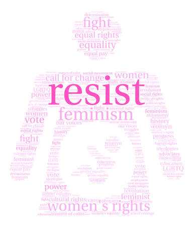 call history: Womens Rights Resist Word Cloud on a white background.