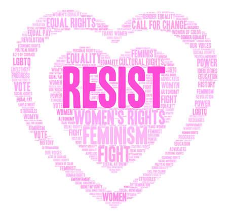 Womens Rights Resist Word Cloud.