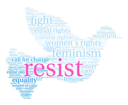 Womens Rights Resist Word Cloud.