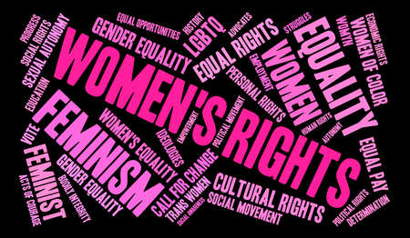 Womens Rights word cloud. Illustration