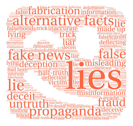 Lies word cloud on a white background. Stok Fotoğraf - 84257248