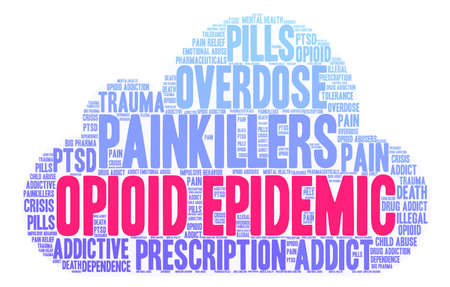 Opioid Epidemic word cloud on a white background. Фото со стока - 84279793