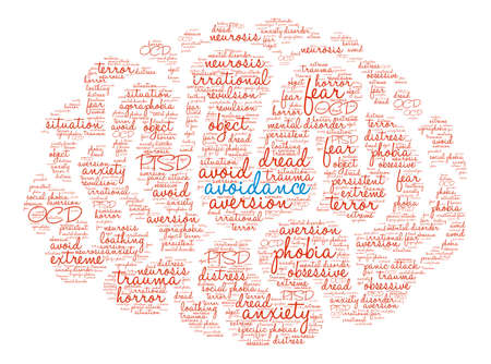 defamation: Avoidance word cloud on a white background.