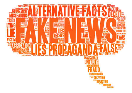 Fake News word cloud on a white background. Stock Vector - 84257489
