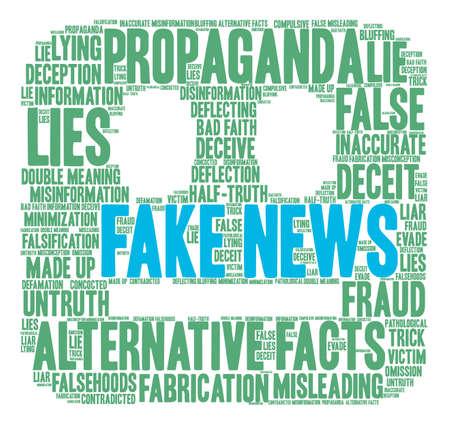 Nube falsa de la palabra de las noticias en un fondo blanco. Foto de archivo - 84257492