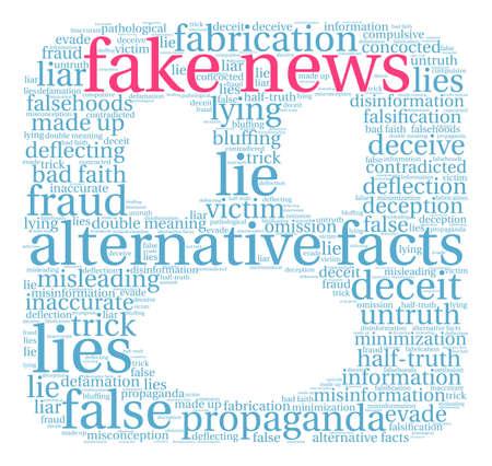 Fake News word cloud on a white background. Stok Fotoğraf - 84257424