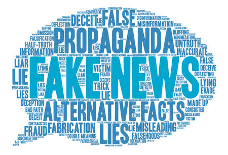 Fake News word cloud on a white background. Stok Fotoğraf - 84257514
