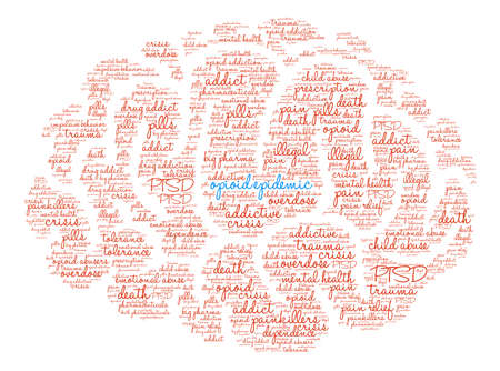 Opioid Epidemic word cloud on a white background. Фото со стока - 84279798
