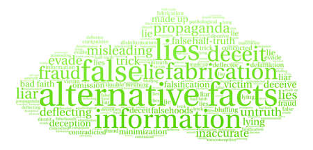 Alternative Facts word cloud on a white background. Stok Fotoğraf - 84257393