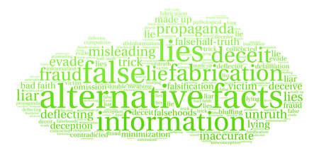 Nuage de mots de faits alternatifs sur un fond blanc. Banque d'images - 84257393