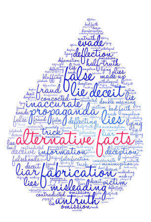 compulsive: Alternative Facts word cloud on a white background.