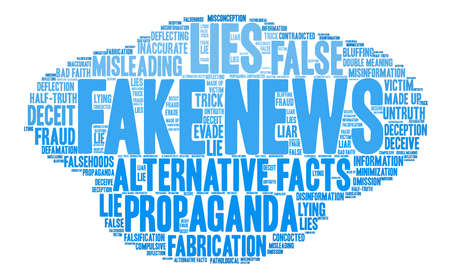 Fake News word cloud on a white background. Stok Fotoğraf - 84279825
