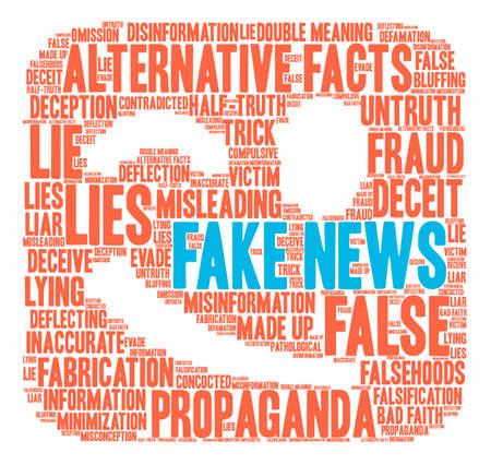 Nube falsa de la palabra de las noticias en un fondo blanco. Foto de archivo - 84257460