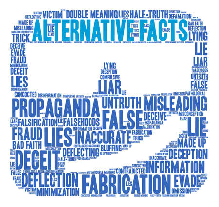 Alternative Facts word cloud on a white background. Stok Fotoğraf - 84319709