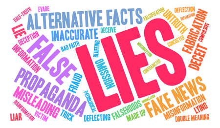 Lies word cloud on a white background. Ilustração