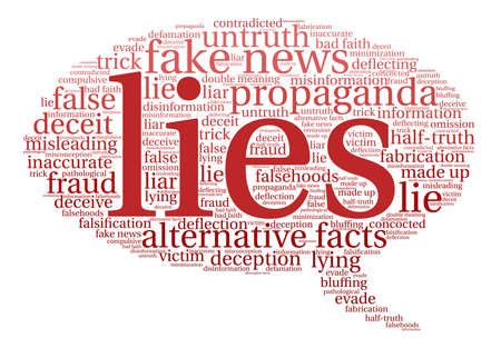 Lies word cloud on a white background. Vettoriali