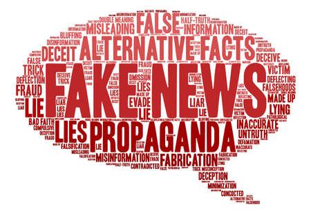 Nube falsa de la palabra de las noticias en un fondo blanco.