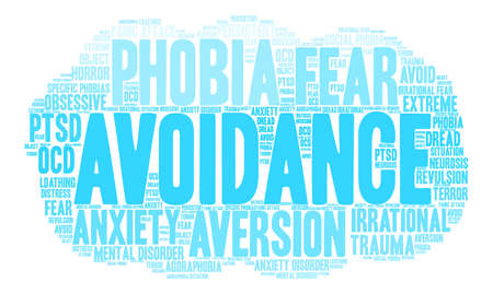 Avoidance word cloud on a white background.