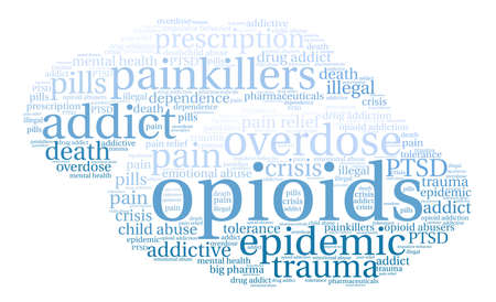 Opioids word cloud on a white background. Фото со стока - 84279907
