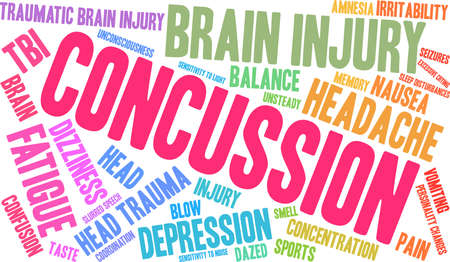 Concussion word cloud. Stock Vector - 88461614