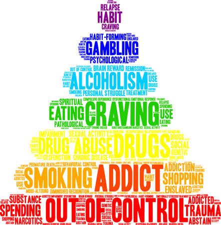 compras compulsivas: Addict word cloud concept.