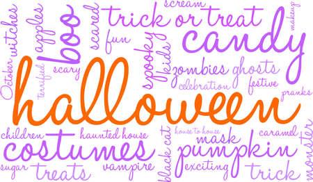 Halloween word cloud concept.