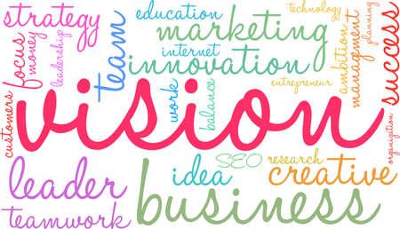 Vision word cloud concept.