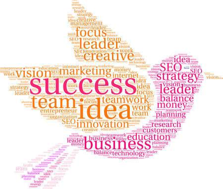 Success word cloud concept.