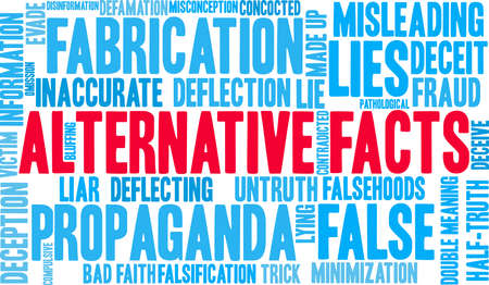 Alternative Facts word concept.