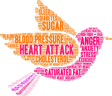 Heart Attack word cloud concept. Illustration