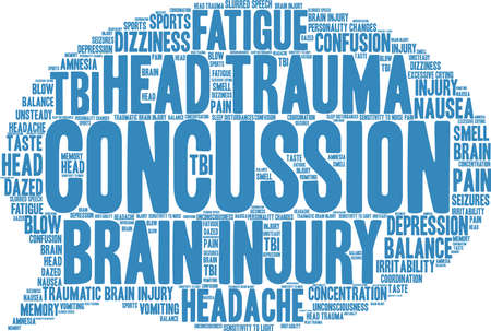Concussion word cloud concept. Stock Vector - 88462589