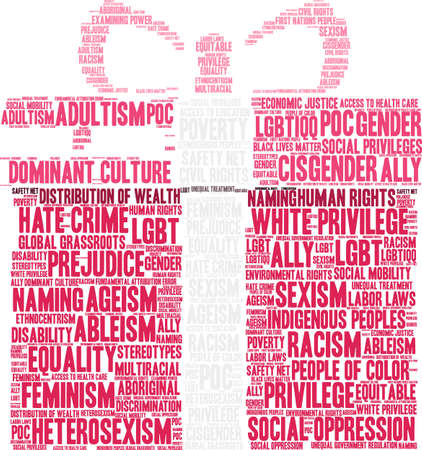社会正義のワードクラウドの概念。  イラスト・ベクター素材