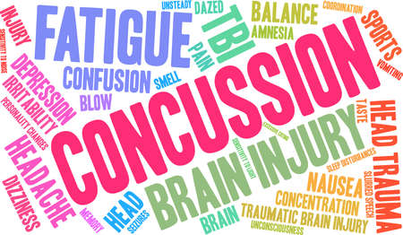 Concussion word cloud concept. Stock Vector - 88462717